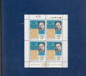 URUGUAY 1980 Rowland Hill m/sheet u/mint