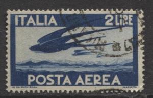 Italy - Scott C107 - Air Post -1945 - VFU - 2 Lira Stamp