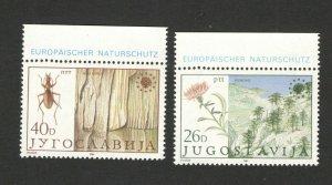 YUGOSLAVIA-MNH -SET-EUROPEAN NATURE PROTECTION-FAUNA-INSECTS-FLORA-FLOWERS-1984.
