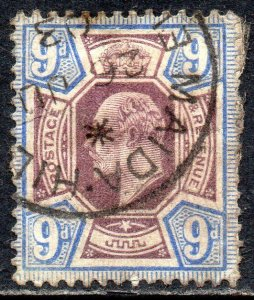 1902 Sg 250 M39/1 9d Dull Violet Et Outremer Maida Colline Simple Cercle Cancel