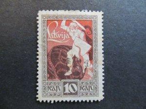 A4P25F13 Latvia Lettonia Lettland 1919-20 10k mint no gum