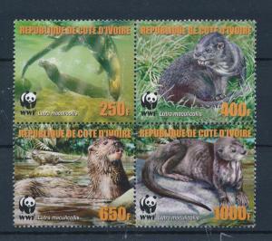 [54024] Ivory Coast 2005 Wild animals Mammals WWF Otter MNH