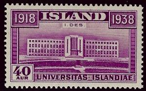 Vibrant Iceland SC #211 Mint VF SCV$7.50...Fill a great bargain spot!...