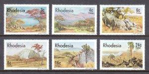 Rhodesia - Scott #381-386 - MNH - SCV $2.00