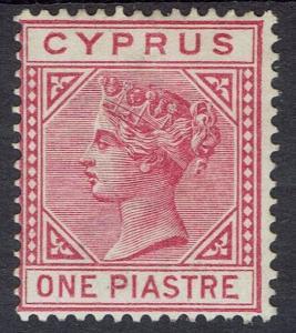 CYPRUS 1882 QV 1PI DIE I WMK CROWN CA