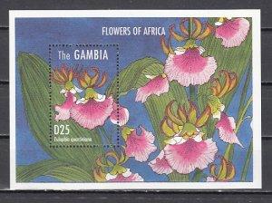 Gambia, Scott cat. 1665. Flowers of Africa s/sheet. ^