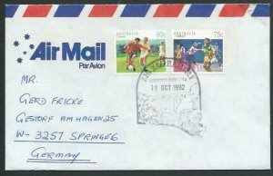AUSTRALIA 1992 cover to Germany - nice franking - Lithgow pictorial pmk....12857