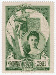 (I.B) Netherlands Cinderella : Coronation Stamp (Amsterdam 1898)