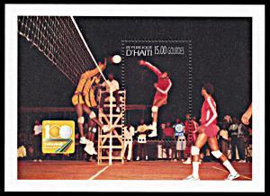 Haiti 880, MNH, Volleyball Centennial souvenir sheet