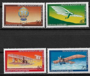 1978 Berlin 9NB142-5 Aviation History MNH C/S of 4
