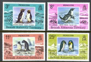 British Antarctic Territory Sc# 72-75 MNH 1979 Penguins