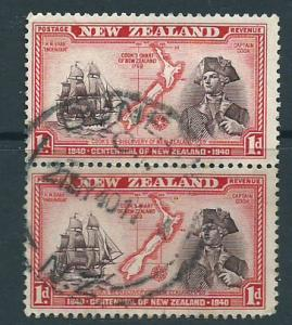 New Zealand SG 614  Used pair Dunedin cancel