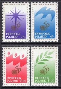 Norfolk Islands 592-595 United Nations MNH VF