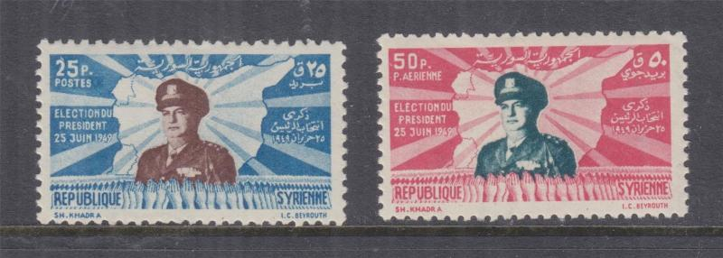 SYRIA, 1949 Presidential Election pair, mnh.