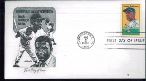 1982 Cooperstown New York Jackie Robinson Black Heritage Series First Day Covers