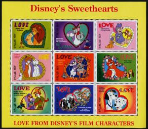 Palau 393-5 MNH Disney Sweethearts, Dogs, Cats, Animals