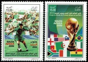 Algeria #1496-97  MNH - World Cup Soccer (2010)