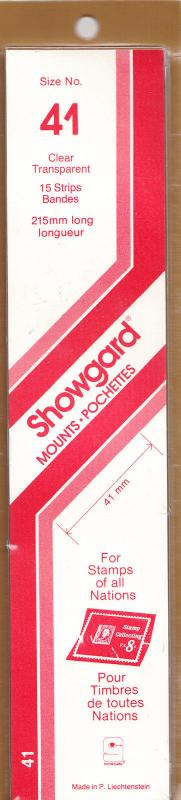 SHOWGARD CLEAR MOUNTS 215/41(15) RETAIL PRICE $9.75