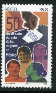 MEXICO 2335, Women's Suffrage, 50th Anniversary. MINT, NH. F-VF.