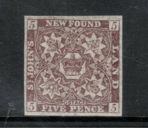Newfoundland #19i Very Fine Never Hinged **With Certificate**