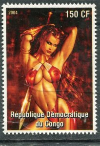 Art of Drew Posada American Comic Book NUDES 1 value Perforated Mint NH