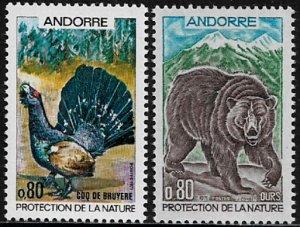 Andorra, French #203-4 MNH Set - Turkey - Bear