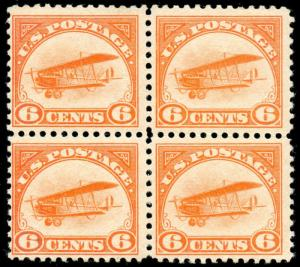 momen: US Stamps #C1 Block of 4 Mint OG NH VF
