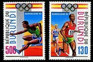HERRICKSTAMP BURUNDI Sc.# 695-96 Olympics 1992