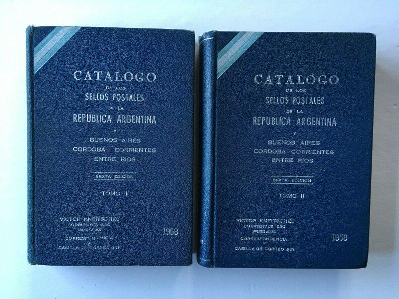 Catalogo de los Sellos de la Republica Argentina. 1958 2 vols, Kneitschel