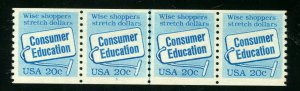 Scott # 2005...20 Cent....Consumer Education...Plate # 3...Strip of 4