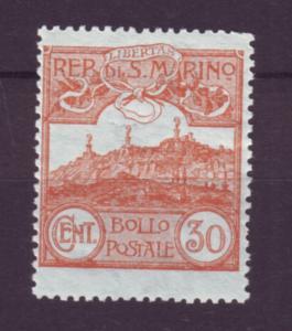 J21545 Jlstamps 1903-25 san marino mlh #58 mt.titano