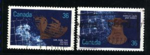 Can #1142,1144  --2   used VF 1987 PD