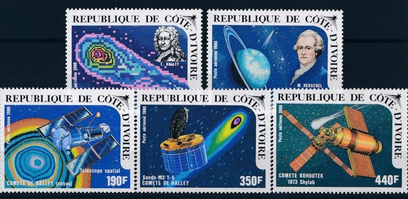 [64212] Ivory Coast 1986 Space Travel Weltraum Halley Comet Airmail MNH