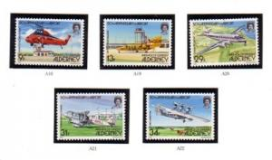 Alderney Sc 18-22 1985 50th anniv Airport stamps mint NH