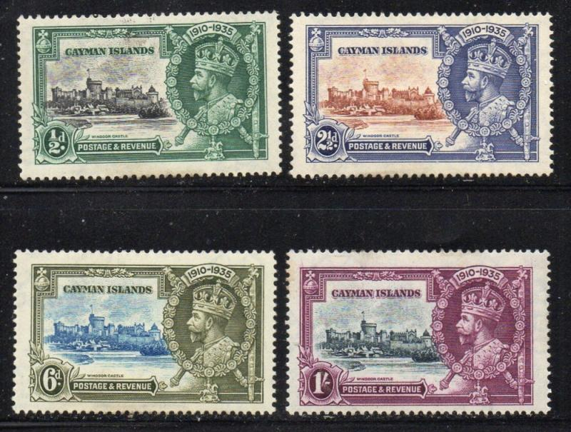 Cayman Islands Sc 81-4 1935 G V Silver Jubilee stamp set mint