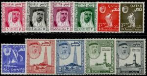 QATAR #26-36 COMPLETE SET OF 11 -- VF+ OG LH -- BQ2049