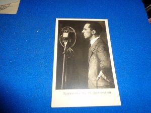 WWII ERA GERMANY PROPAGANDA POST CARD, DR GOEBBELS