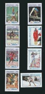 Lesotho 1992 Summer & Winter Olympics  8 Stamp Set 12E-007