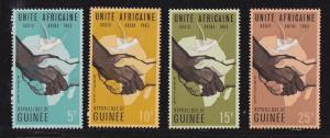 Guinea # 305-308, Hands Shaking, Mint NH, 1/2 Cat.