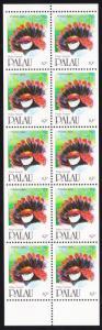 Palau Birds Palau Fantail Booklet pane of 10v SG#415 SC#269b