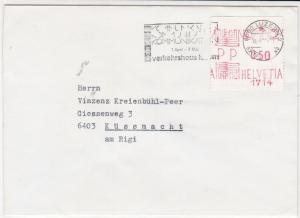 Switzerland commercial  machine label stamps cover ref 21576