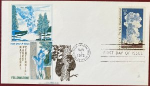 Overseas Mailer 1453 National Parks Yellowstone National Park Wyoming