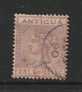 Antigua a used 1/- QV from 1884