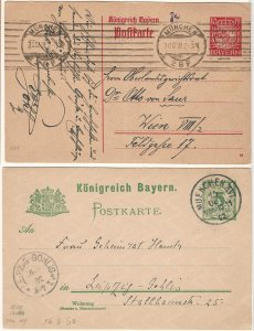 Bavaria 1902 - 1920 : Six (6) Different Postal Cards & Covers