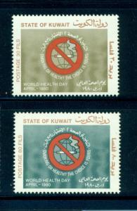 Kuwait - Sc# 811-2. 1980 World Health Day. MNH $4.00.