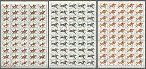 150 1982 USSR RUSSIA FAUNA HORSES ANIMALS SPORT !!! 3SH MNH
