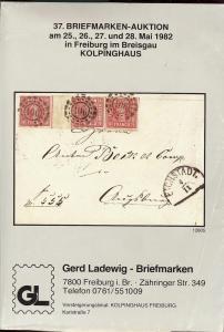 37. Briefmarken-Auktion, Gerd Ladewig  May 25-28, 1982