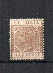 St Lucia 1885 4d MH