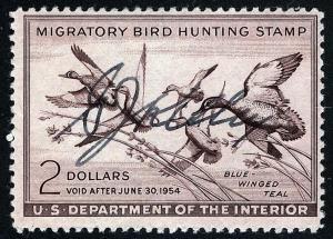 US Sc RW20 Pen Signature Original Gum NH!