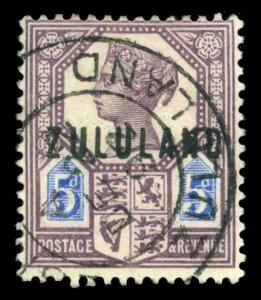 Zululand 1888 QV 5d dull purple & blue very fine used. SG 7. Sc 7.